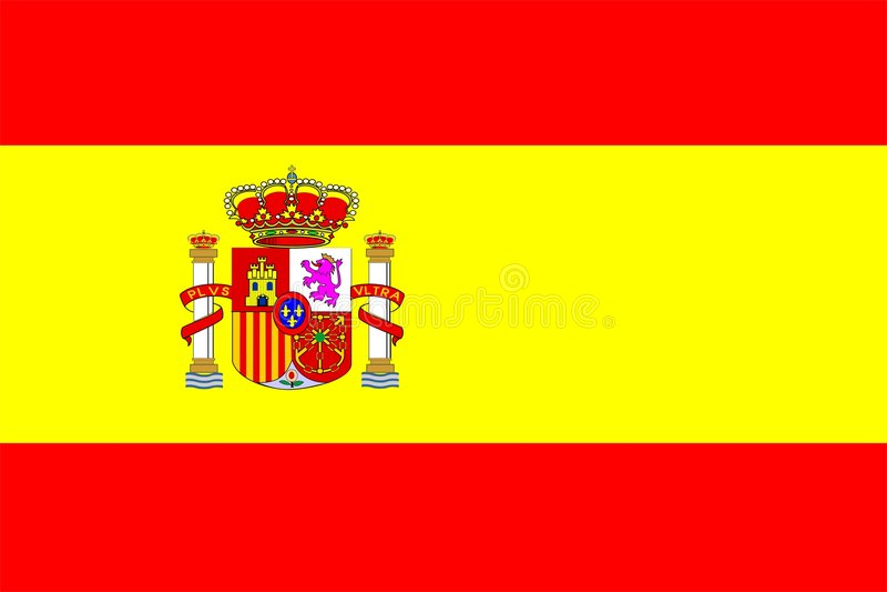 Bandeira de Spain ilustração royalty free