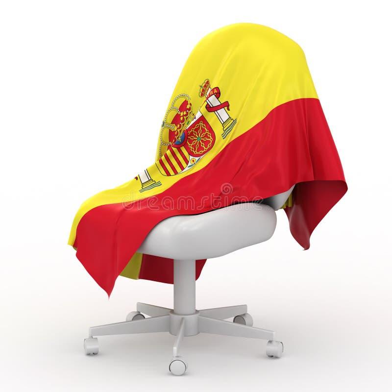 Bandeira de Spain. ilustração do vetor