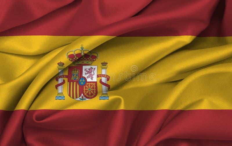 Bandeira de Spain que acena - bandeira espanhola ilustração stock