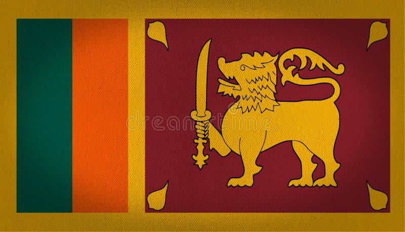 Bandeira de Sri Lanka ilustração royalty free