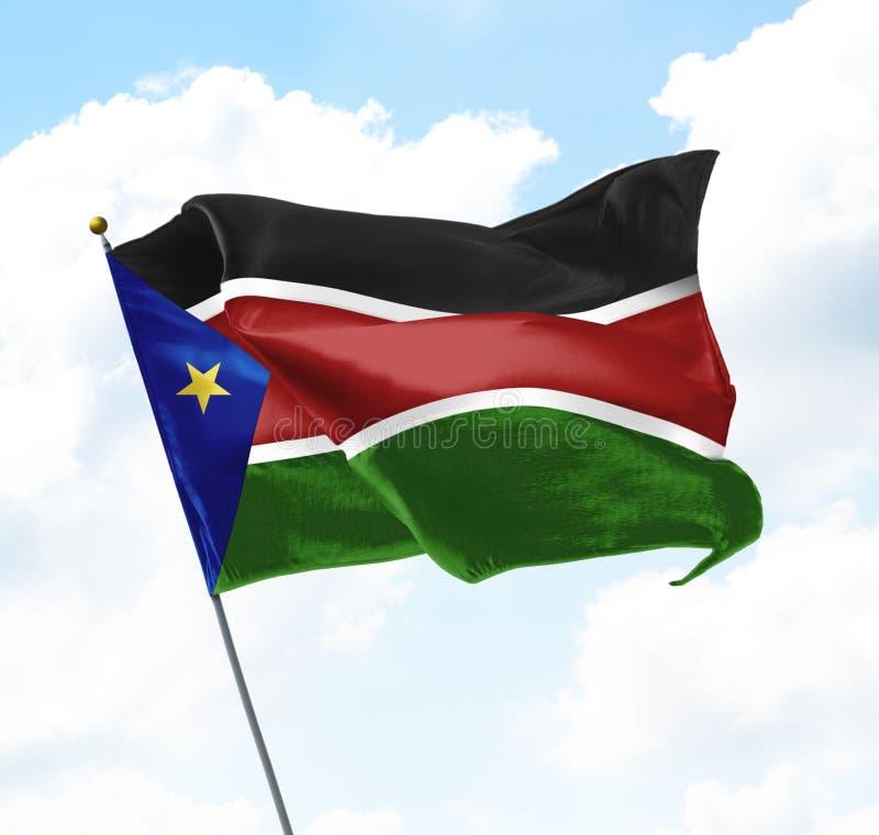 Bandeira de Sudão sul foto de stock royalty free