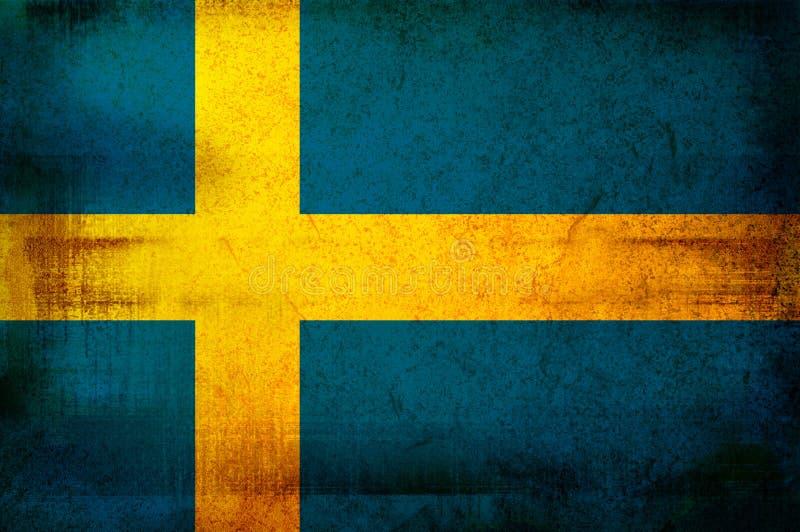 Bandeira de Sweden ilustração do vetor
