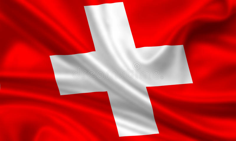 Bandeira de switzerland foto de stock