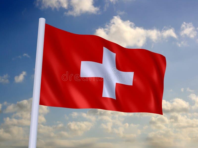 Bandeira de switzerland ilustração stock