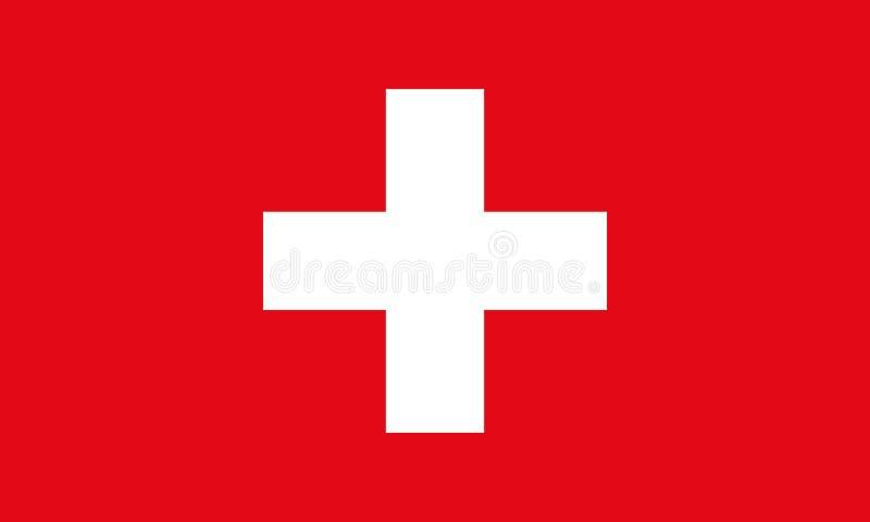 Bandeira de Switzerland Fundo do vetor da bandeira de Suíça ilustração royalty free
