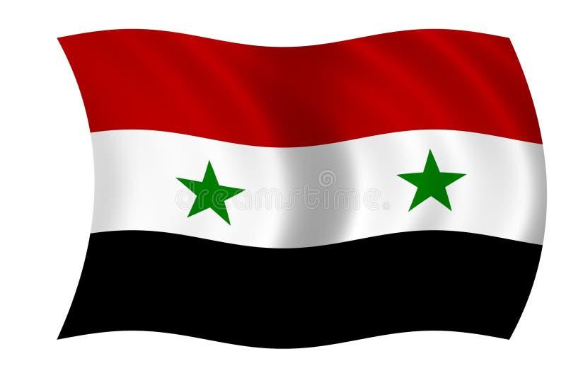 Bandeira de Syria ilustração royalty free