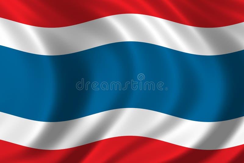 Bandeira de Tailândia ilustração stock
