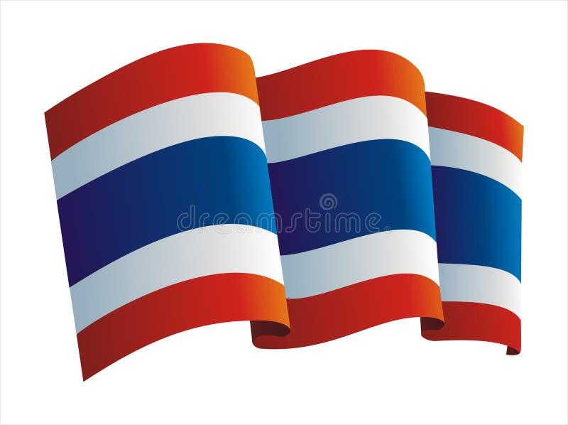 Bandeira de Tailândia ilustração do vetor