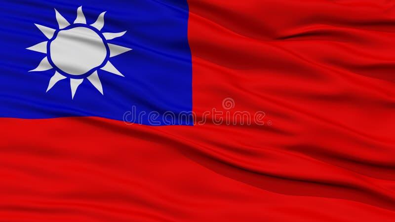 Bandeira de Taiwan do close up imagens de stock