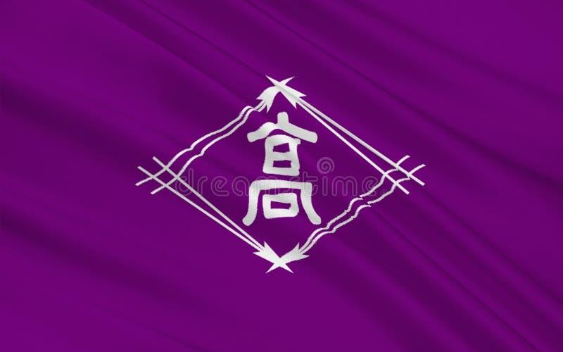 A bandeira de Takamatsu é uma cidade de Kagawa Prefecture, Japão imagens de stock royalty free