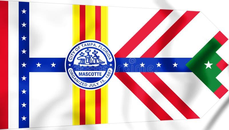 Bandeira de Tampa Florida, EUA ilustração 3D ilustração do vetor