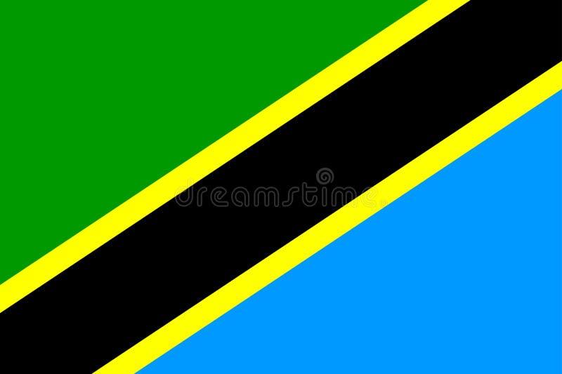 Bandeira de Tanzânia ilustração royalty free