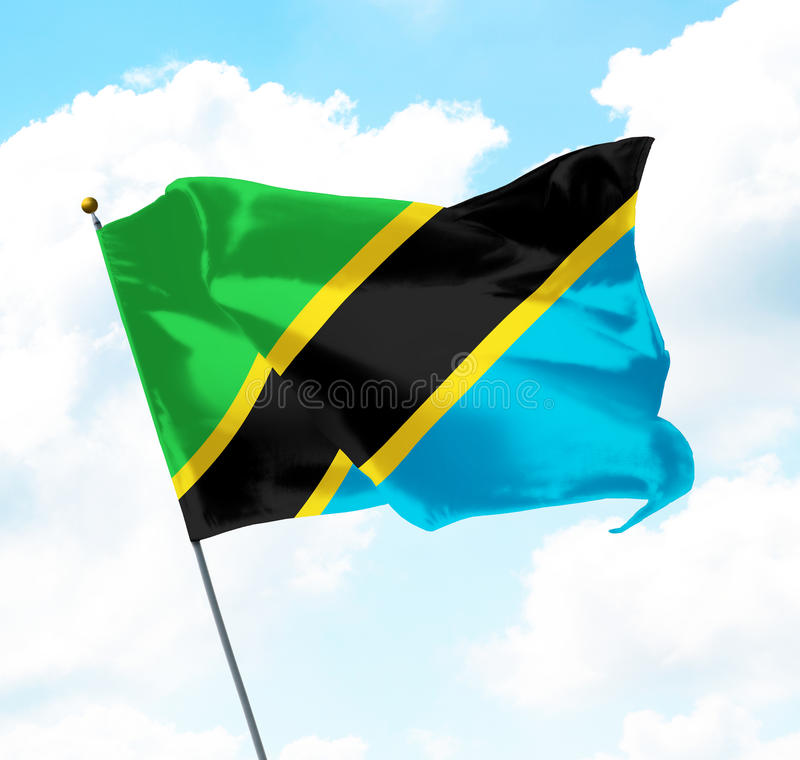 Bandeira de Tanzânia ilustração stock
