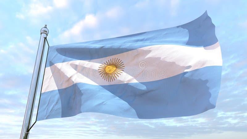 Bandeira de tecelagem do país Argentina ilustração royalty free