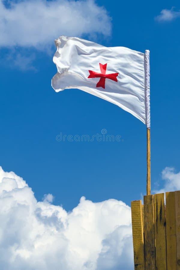 Bandeira de Templar fotografia de stock royalty free