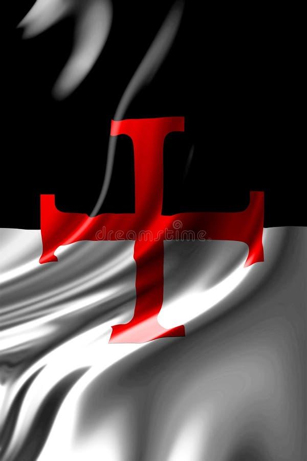 Bandeira de Templar ilustração stock