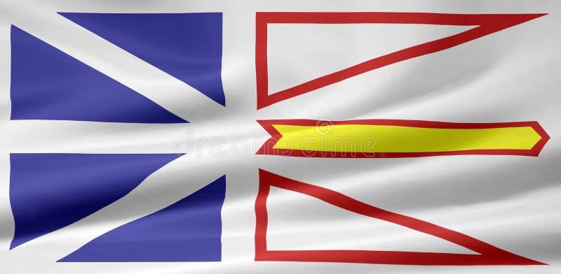 Bandeira de Terra Nova e de Labrador ilustração do vetor