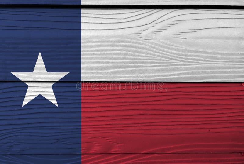 Bandeira de Texas no fundo de madeira da placa Textura da bandeira de Texas do Grunge imagem de stock royalty free