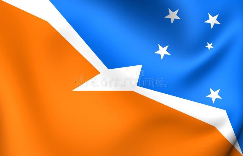 Bandeira de Tierra del Fuego, Argentina ilustração stock
