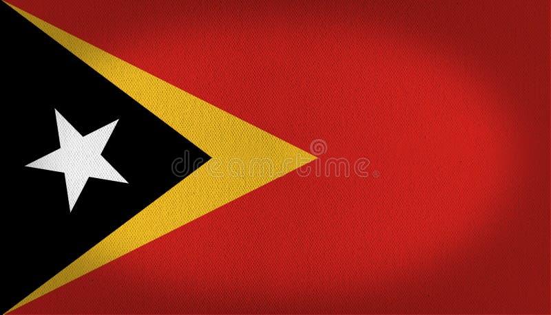 Bandeira de Timor-Leste ilustração stock