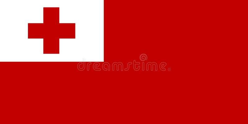 A bandeira de Tonga ilustração do vetor
