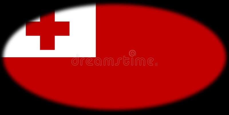 A bandeira de Tonga ilustração royalty free