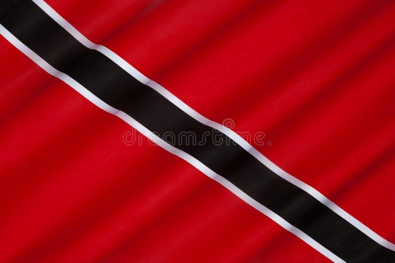 Bandeira de Trindade e Tobago fotografia de stock royalty free