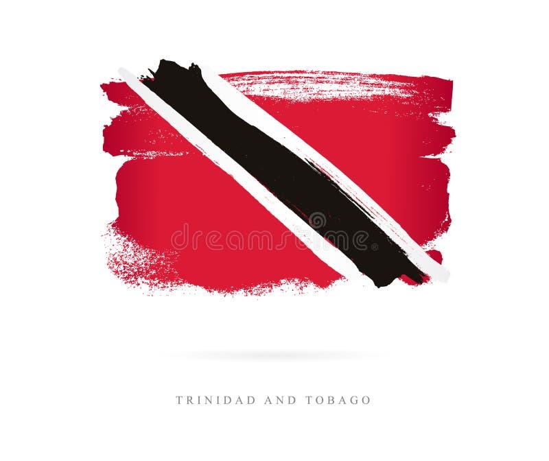 Bandeira de Trinidad And Tobago ilustração royalty free