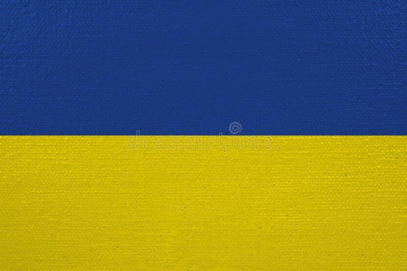 Bandeira de Ucrânia na lona ilustração stock