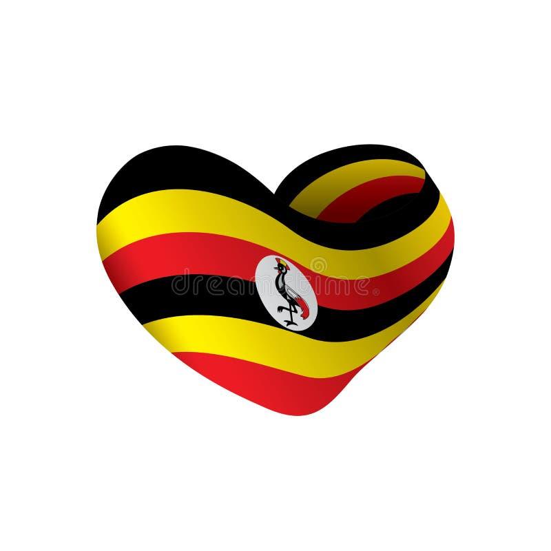 Bandeira de Uganda, ilustração do vetor ilustração do vetor