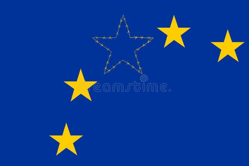 Bandeira de união de Europa fotografia de stock royalty free
