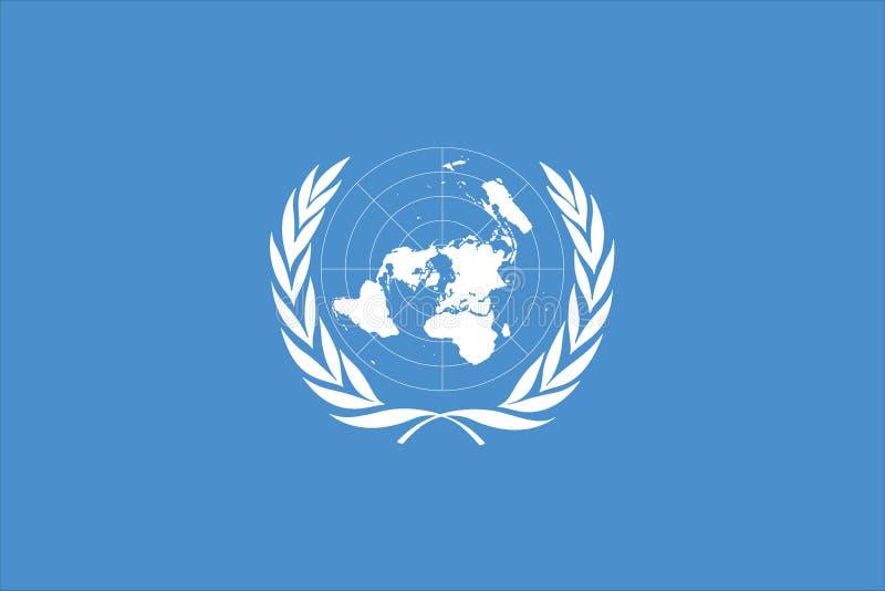 bandeira de United Nations ilustração do vetor