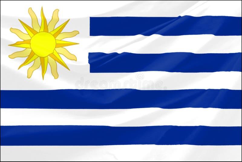 Bandeira de Uruguai ilustração do vetor