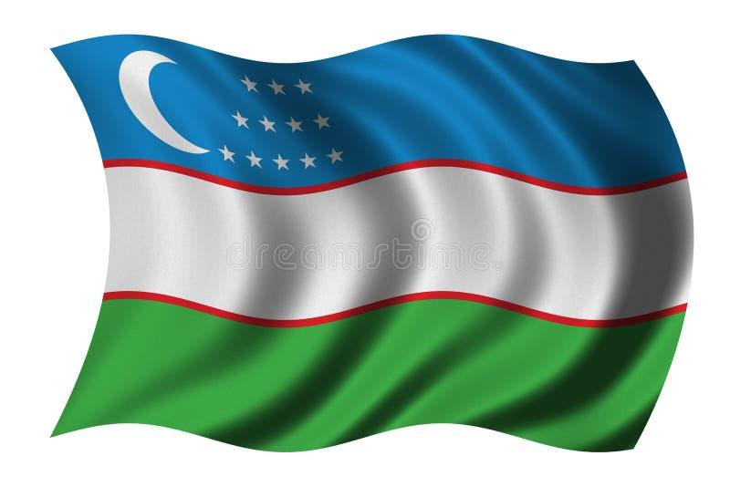 Bandeira de Uzbekistan ilustração royalty free