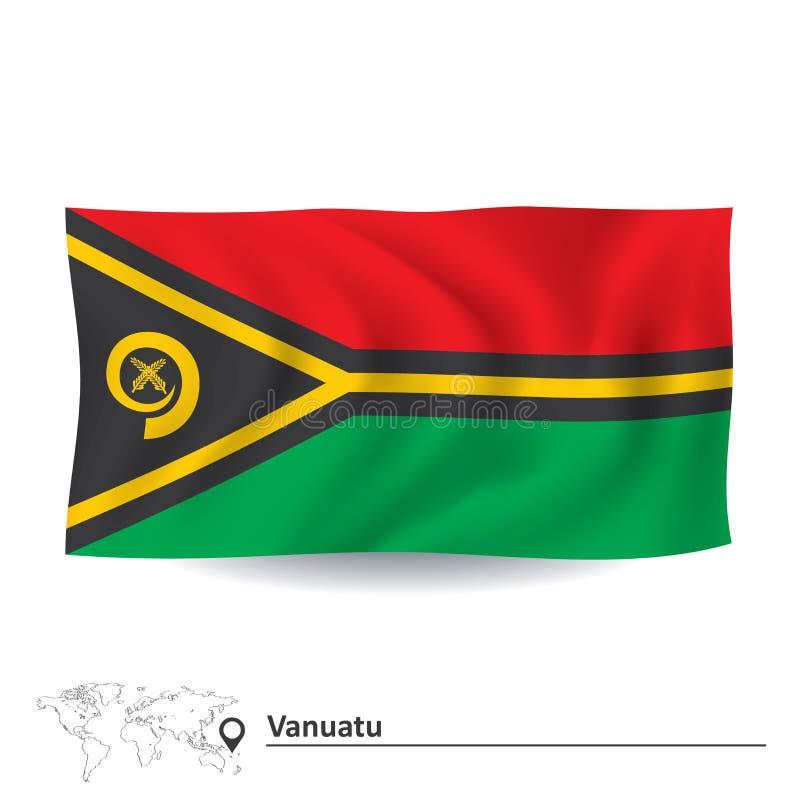 Bandeira de Vanuatu ilustração royalty free