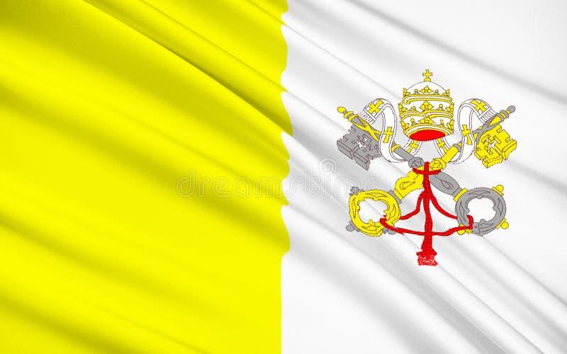 Bandeira de Vatican ilustração do vetor