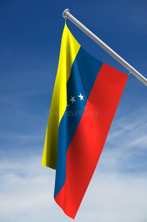 Bandeira de Venezuela ilustração stock