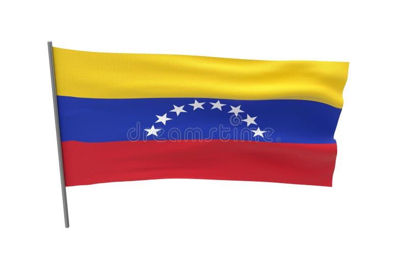 Bandeira de Venezuela ilustração do vetor