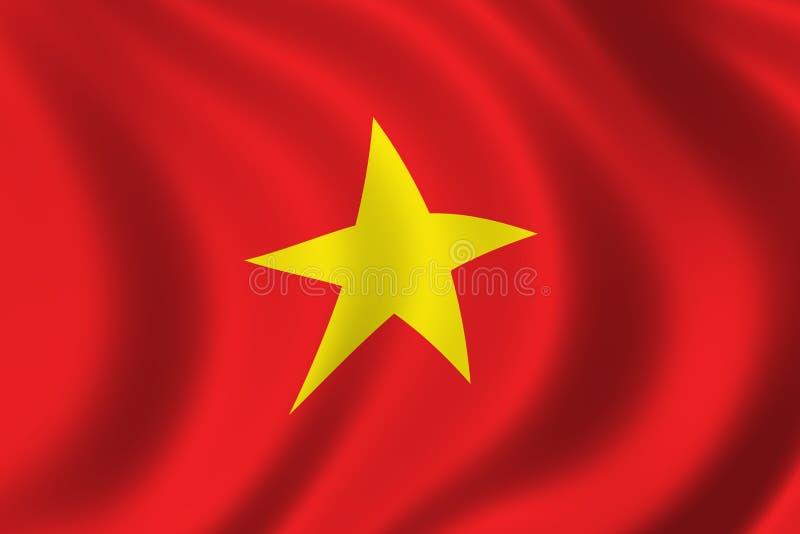 Bandeira de Vietnam ilustração do vetor