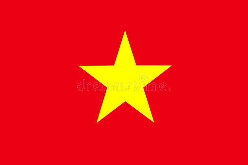 Bandeira de Vietnam ilustração stock