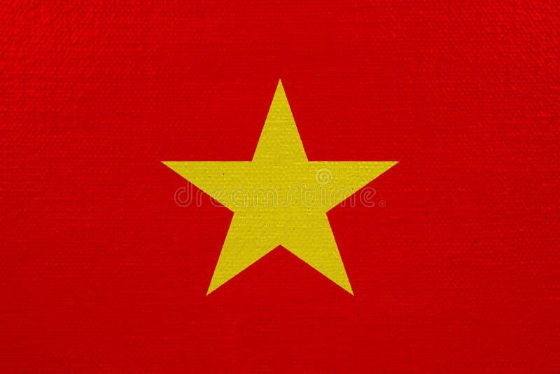 Bandeira de Vietname na lona ilustração stock