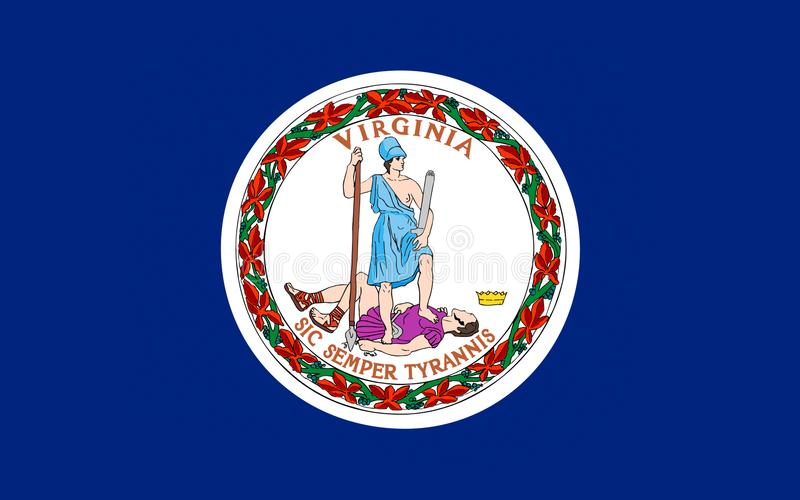 Bandeira de Virgínia, EUA fotografia de stock royalty free