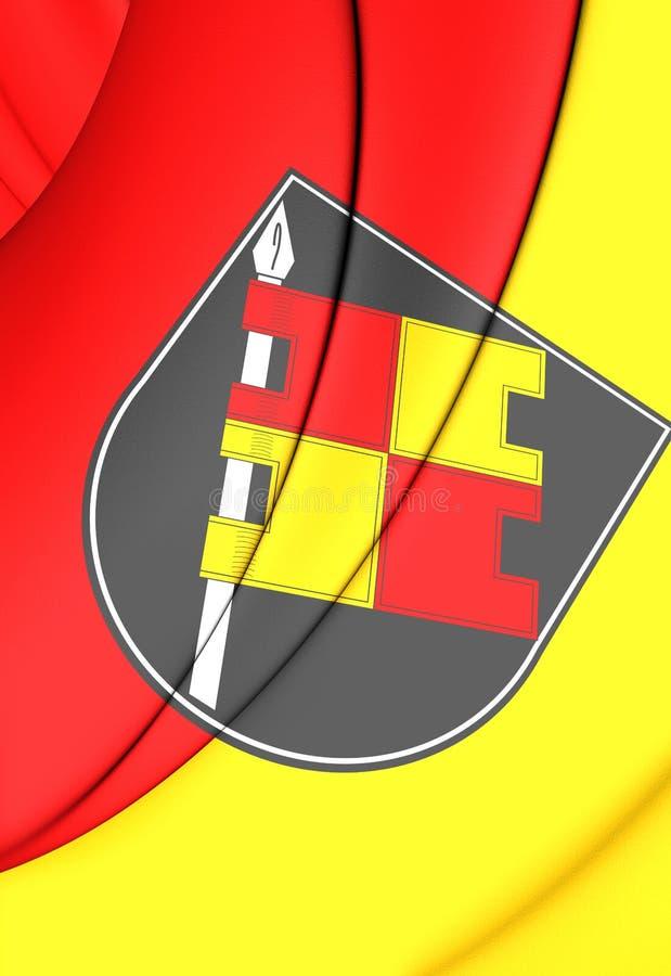 Bandeira de Wurzburg & de x28; Bavaria& x29; , Alemanha ilustração stock