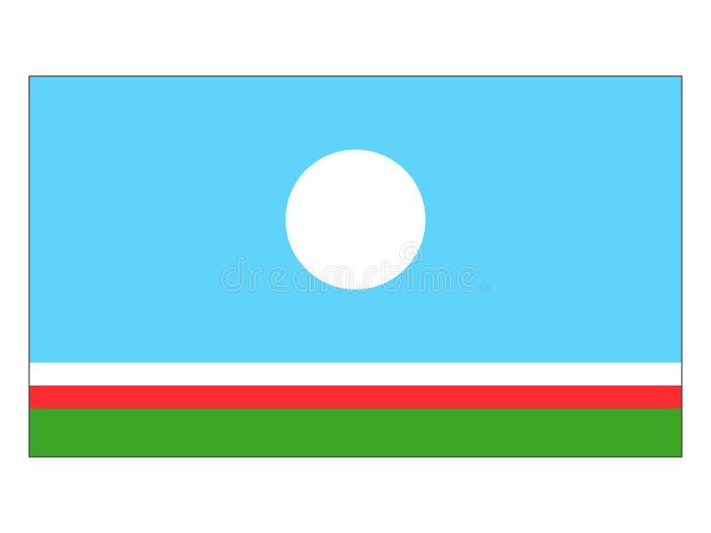 Bandeira de Yakutia ilustração do vetor