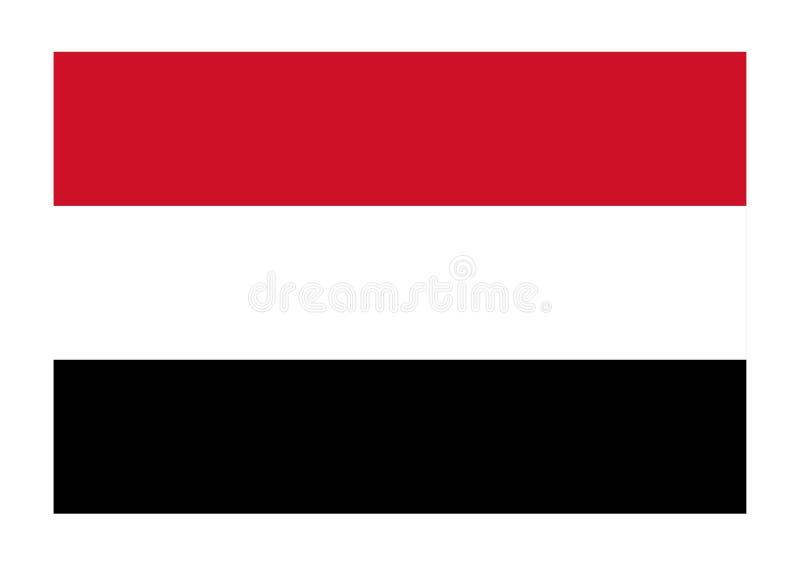 Bandeira de yemen ilustração stock