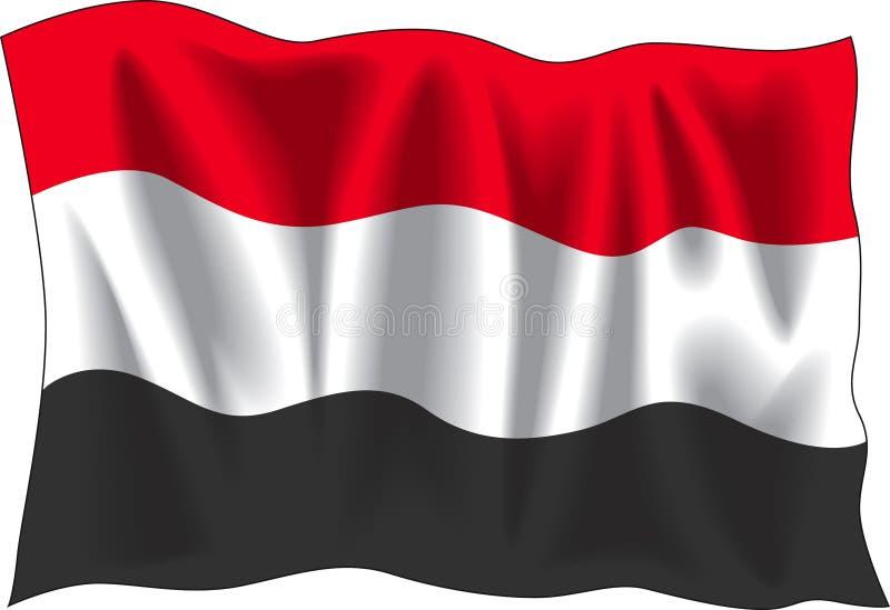 Bandeira de Yemen ilustração royalty free