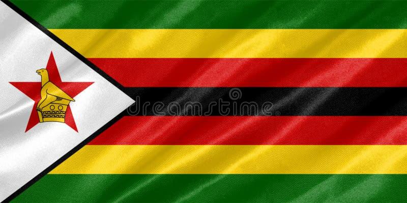 Bandeira de Zimbabwe fotos de stock