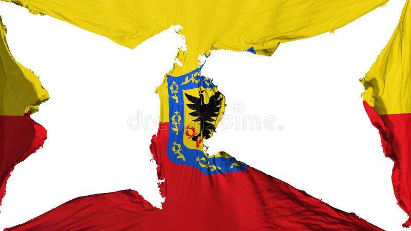 Bandeira destruída de Bogotá ilustração royalty free