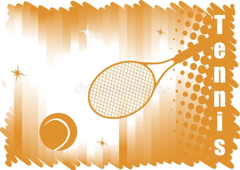 Bandeira dicromática abstrata do tênis para cortes vermelhas ilustração royalty free