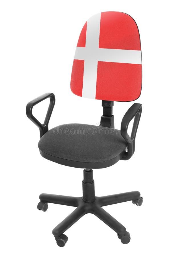 A bandeira dinamarquesa imagens de stock royalty free